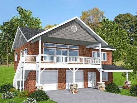 Garage-Living Plan 85137
