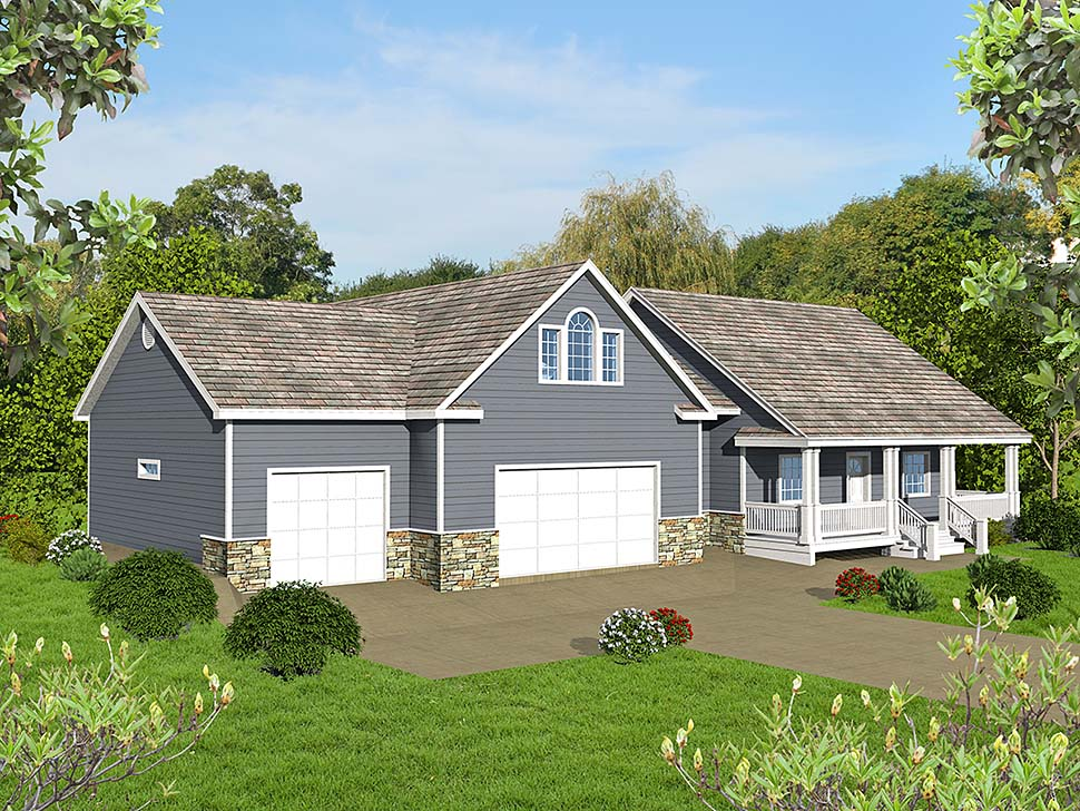 Craftsman, Traditional House Plan 85209 with 4 Beds, 4 Baths, 3 Car Garage Elevation