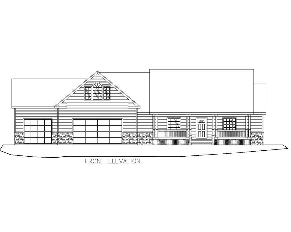 Craftsman, Traditional House Plan 85209 with 4 Beds, 4 Baths, 3 Car Garage Picture 2