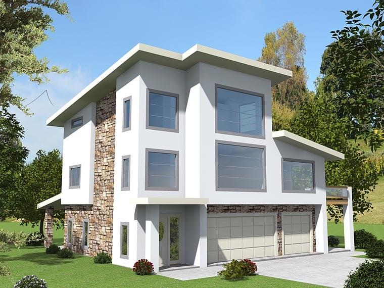 Contemporary Modern House Plan 85230 Elevation