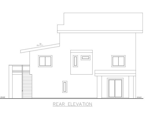 Contemporary Modern House Plan 85230 Rear Elevation