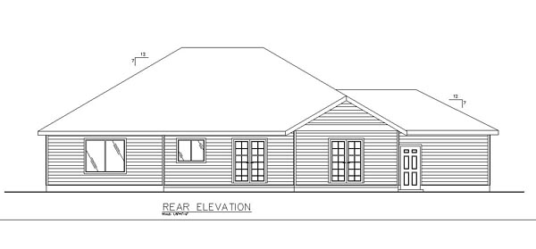 Ranch Traditional House Plan 85240 Rear Elevation
