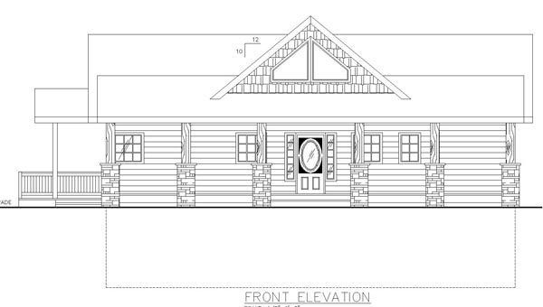 Bungalow Contemporary Cottage Traditional House Plan 85242 Rear Elevation