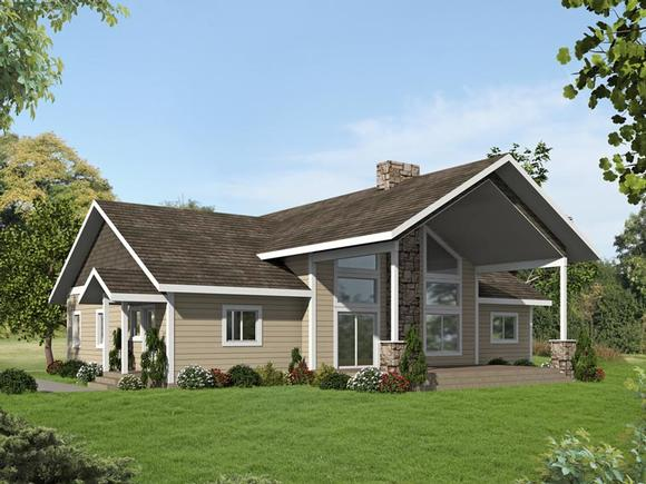 Contemporary, Country, Craftsman House Plan 85243 with 3 Beds, 2 Baths Elevation