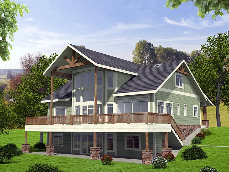 Awesome Contemporary Country Craftsman House Plan 85256 Elevation