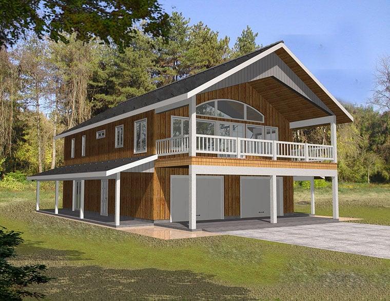 Contemporary Traditional Garage Plan 85263 Elevation