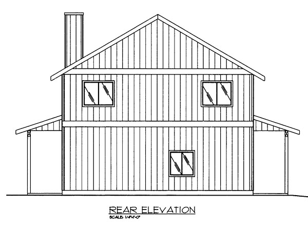 Contemporary Traditional Garage Plan 85263 Rear Elevation
