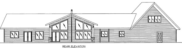 Craftsman Traditional House Plan 85264 Rear Elevation