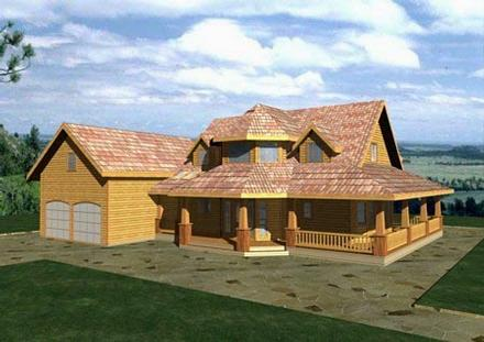 Country, Farmhouse, Southern, Victorian House Plan 85268 with 3 Beds, 3 Baths, 2 Car Garage