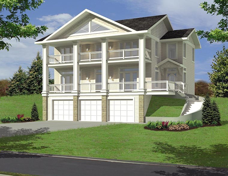 Colonial Traditional House Plan 85271 Elevation