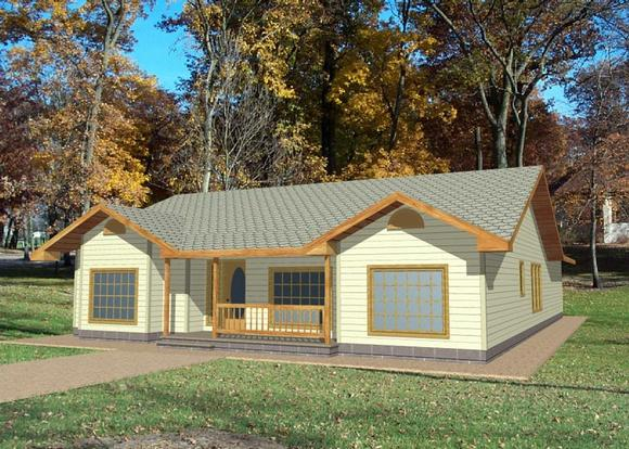Ranch, Traditional House Plan 85274 with 3 Beds, 2 Baths, 2 Car Garage Elevation