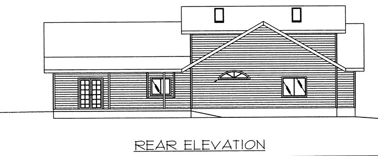 Contemporary European House Plan 85275 Rear Elevation