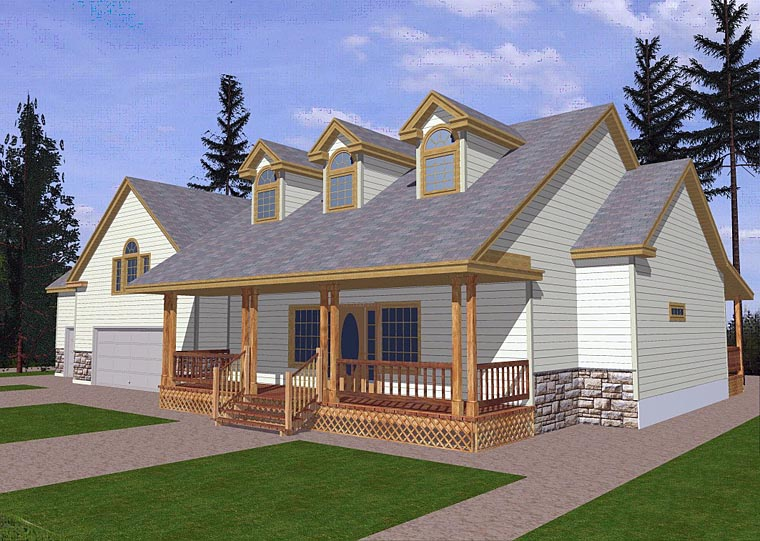 Cape Cod Country Traditional House Plan 85282 Elevation
