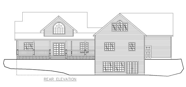 Cape Cod Country Traditional House Plan 85282 Rear Elevation