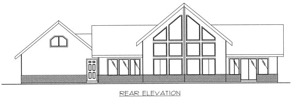 Country Traditional House Plan 85283 Rear Elevation