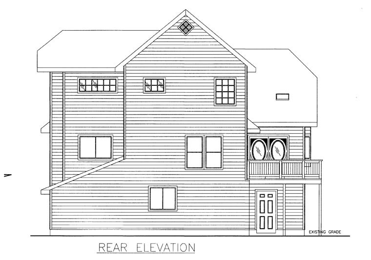 Contemporary House Plan 85311 Rear Elevation