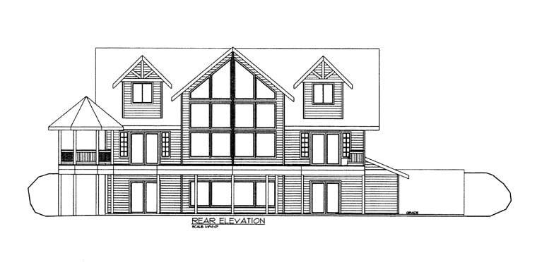 House Plan 85362 Rear Elevation