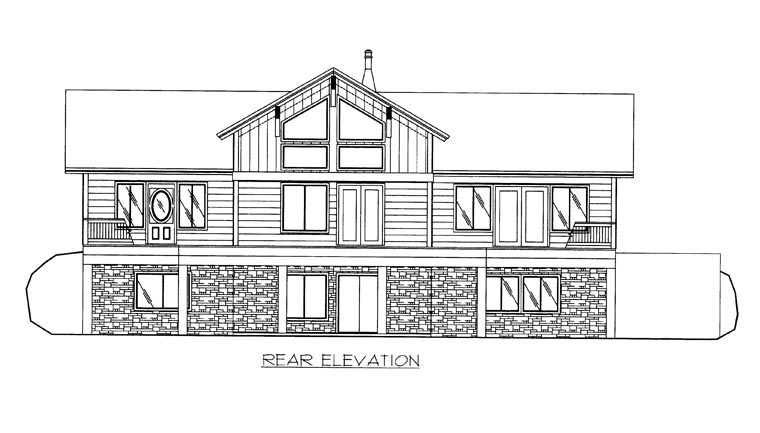 House Plan 85367 Rear Elevation