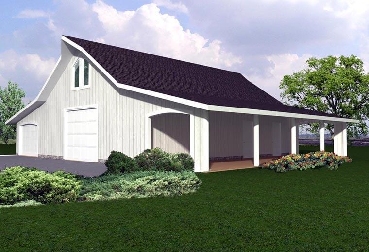 Garage Plan 85374 Elevation