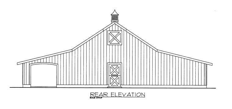 Garage Plan 85374 Rear Elevation