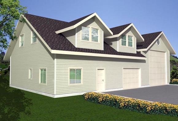 3 Car Garage Plan 85381, RV Storage Elevation