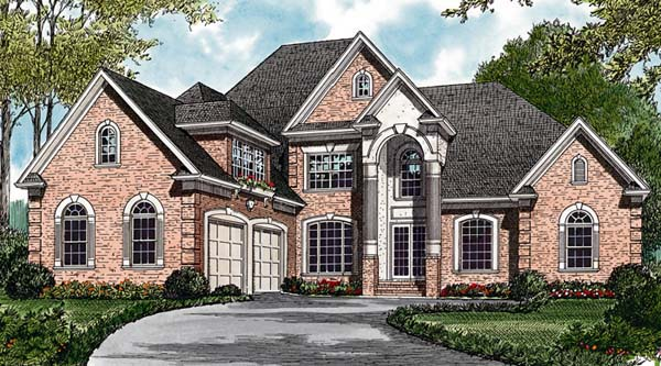 Traditional House Plan 85425 with 4 Beds, 5 Baths, 2 Car Garage Elevation
