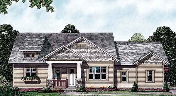 Bungalow, Cottage, Craftsman House Plan 85433 with 3 Beds, 4 Baths, 2 Car Garage Elevation