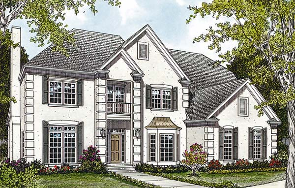 Traditional House Plan 85438 with 6 Beds, 5 Baths, 2 Car Garage Elevation