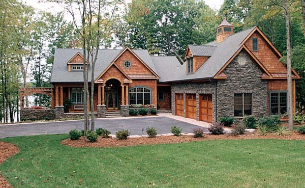 House plan 85480 at for Three car garage house plans