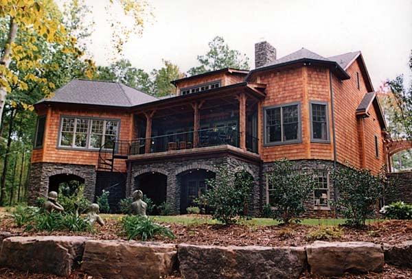 Cottage Craftsman House Plan 85480 Rear Elevation