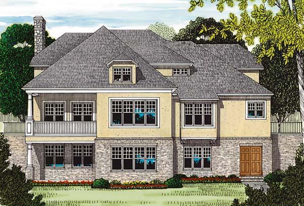 Cottage Craftsman House Plan 85494 Rear Elevation