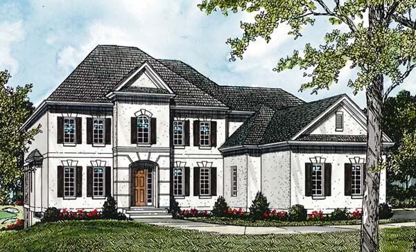 Traditional House Plan 85520 with 6 Beds, 5 Baths, 3 Car Garage Elevation