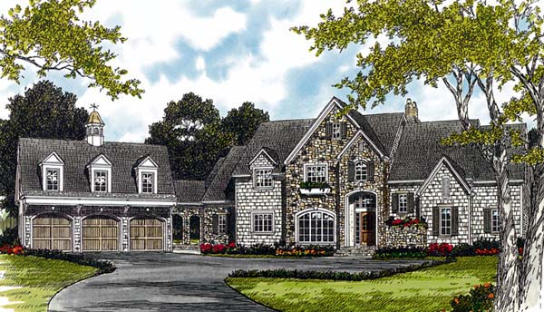 Elevation of Cottage   Country   European   House Plan 85544