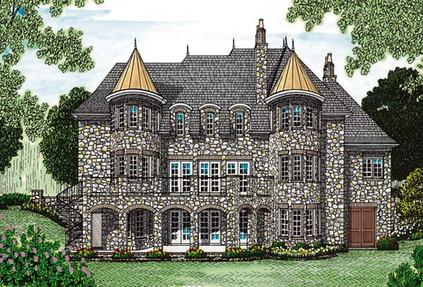 French Country House Plan 85562 Rear Elevation