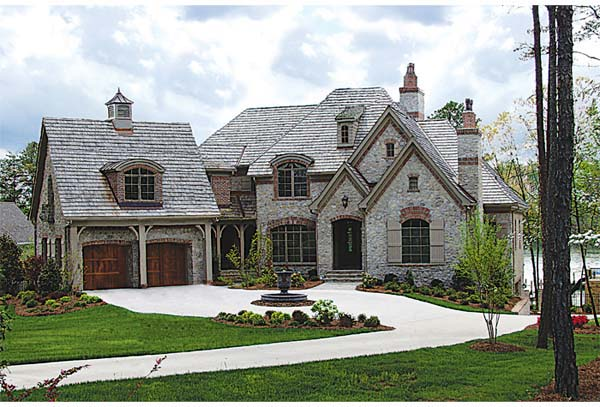 country european house plan 85570 elevation - European House Plans
