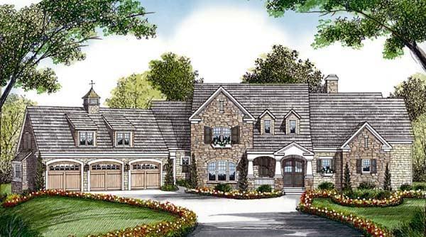 Cottage, Craftsman House Plan 85573 with 5 Beds, 6 Baths, 3 Car Garage Elevation
