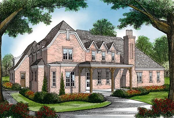 Country European House Plan 85575 Rear Elevation