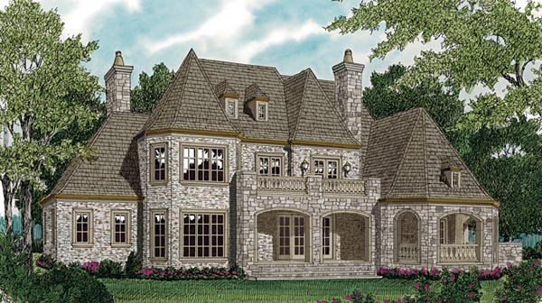 Country European House Plan 85589 Rear Elevation