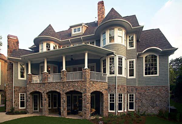 Cottage, Craftsman House Plan 85596 with 5 Beds, 8 Baths, 3 Car Garage Rear Elevation