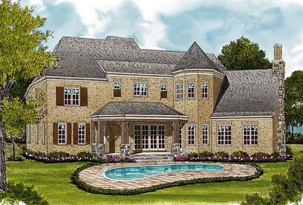 Country European House Plan 85598 Rear Elevation