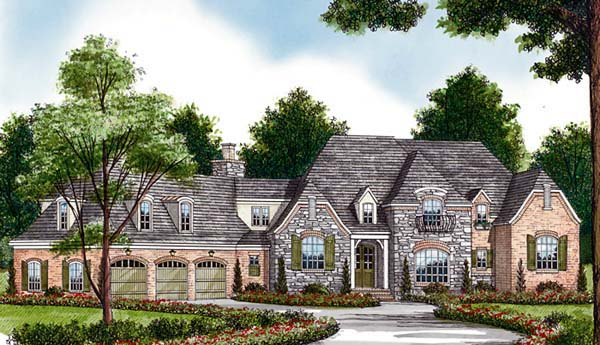 Country European House Plan 85614 Elevation