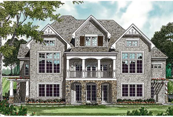 Cottage Craftsman House Plan 85617 Rear Elevation