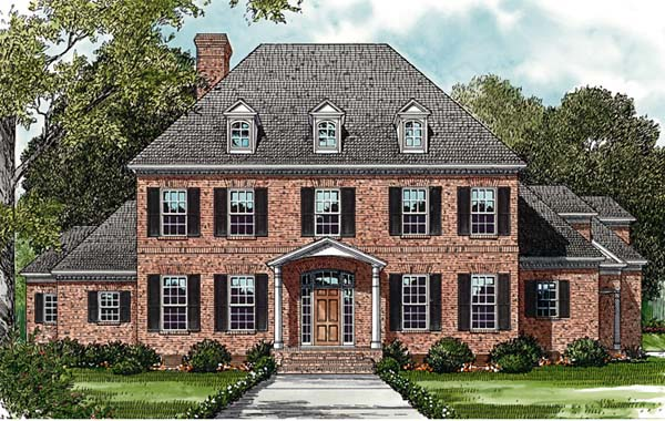 Colonial House Plan 85620 Elevation