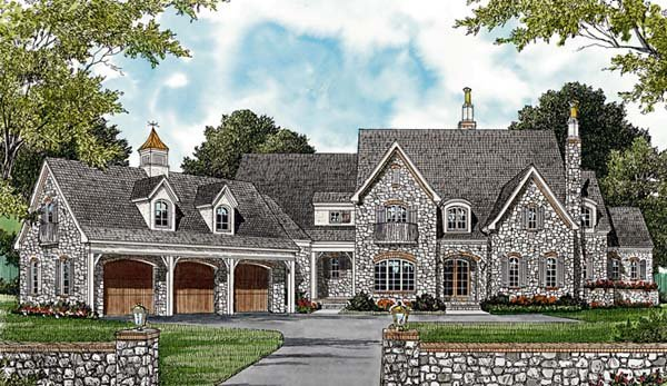 Country European House Plan 85629 Elevation