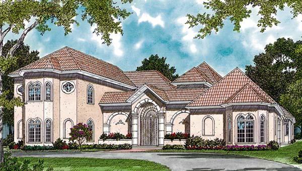 European Mediterranean House Plan 85651 Elevation