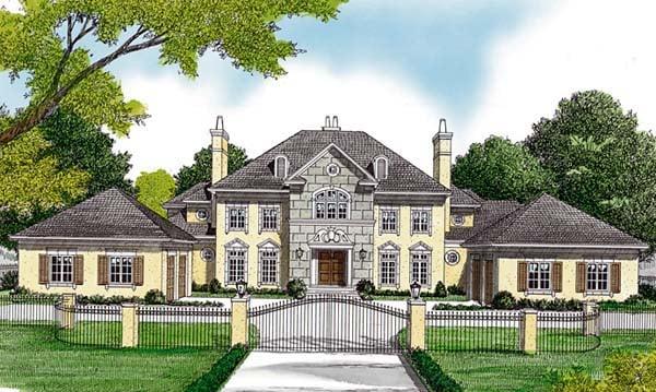 European House Plan 85652 Elevation