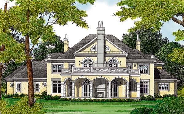 European House Plan 85652 Rear Elevation