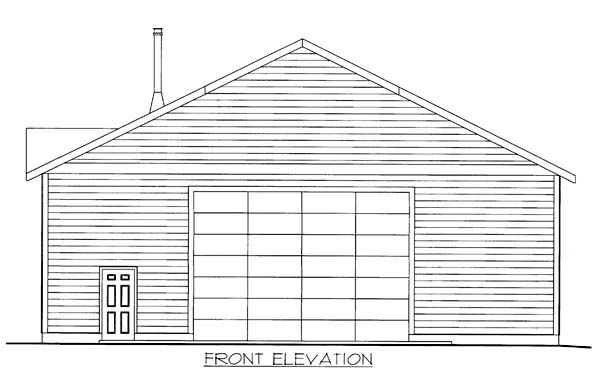 Garage Plan 85805 Elevation