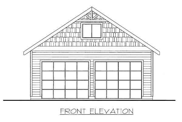 Garage Plan 85807 Elevation