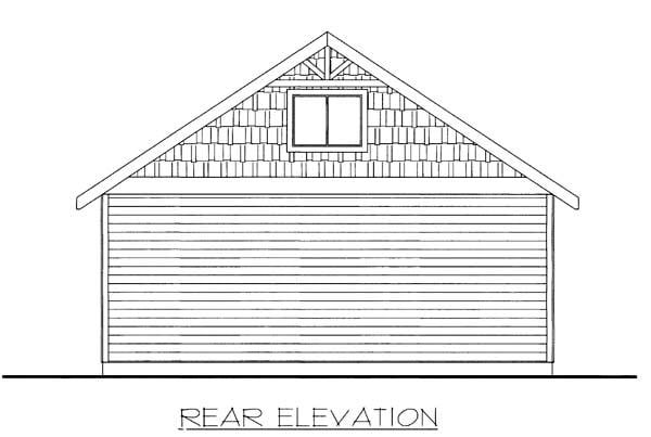 Garage Plan 85807 Rear Elevation